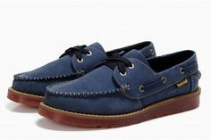 timberland mens classic 2 eye waterproof boat shoe royal blue #shoes