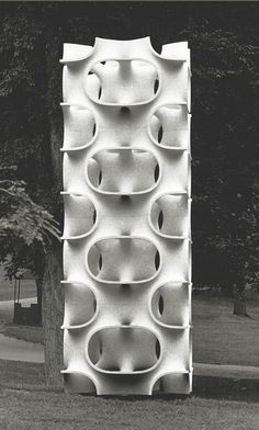 Erwin Hauer #geometry #sculpture #architecture #pattern