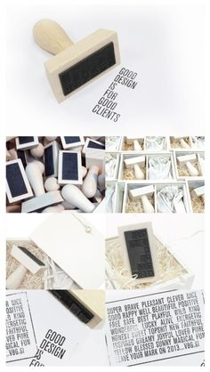 Leave your mark on 2013 | vbg.si creative design studio #stamp #packaging #newyear #gift #wood #diy #package