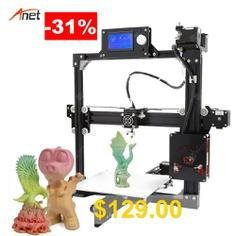 Anet #A2 #Metal #Frame #Easy #Assembly #3d #Printer #LCD #Size #Optional #DIY #3D #Printer #Kit #Impressora #3d