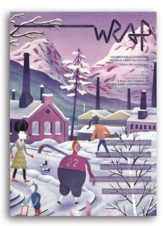 Image of ** NEW ** WRAP ISSUE 6 – 'NORDIC LIGHTS' #print #magazine #wrapping paper