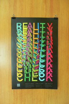 AIGA poster Varsity Crime Wave #identity #poster #layout #color #illusion #3d