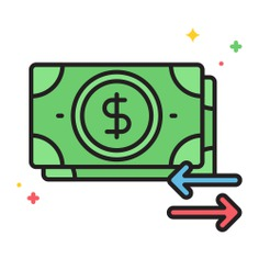 See more icon inspiration related to cash, money, money flow, business and finance, investment, directions, currency, flow, economy, notes, business and arrows on Flaticon.