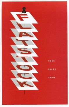 FFFFOUND! | ​g​r​a​i​n​ ​e​d​i​t​ ​·​ ​R​o​c​k​ ​P​a​p​e​r​ ​S​h​o​w #red #design #graphic #illustration #poster