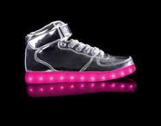Light Up Shoes Kids Metallic Super Nova (Silver)