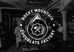 Rocky Mountain Chocolate Factory Logo #mark #smith #design #chocolate #chad #identity #logo