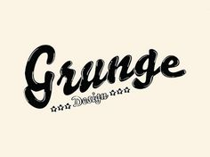 Grunge Design | Flickr - Photo Sharing! #logo #design #typo #grunge