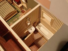 Bungalow Interior-Bath-Room | Flickr - Photo Sharing! #interior #miniature #diorama #art