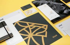 Roar Groupe | Mast #stationery #print #envelope #folder #letterhead #business #card