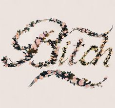 Better With Flowers on Behance #swords #curse #flowers #typography