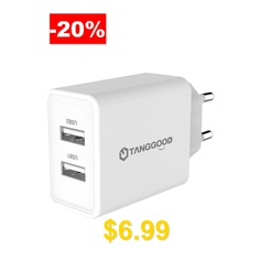 TANGGOOD #Dual #USB #Charger #5V #3.4A #17W #2-Port #Wall #Charger #Adapter #Universal #Mobile #Charger