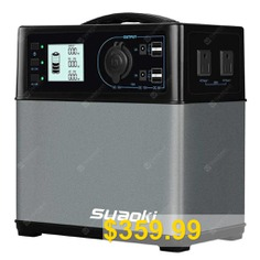 SUAOKI #PS5B #400Wh #Portable #Power #Station #with #DC #AC #USB #Outputs