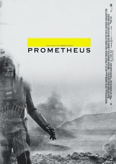 Prometheus #movie #white #yellow #design #black #poster #and
