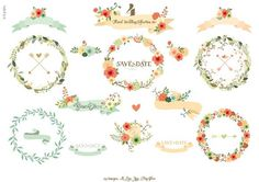 Floral Wedding Collection 4 - Illustrations