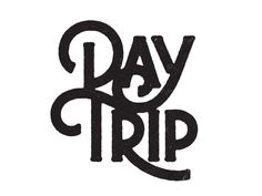Day Trip by Simon Walker #type #typo #script #lettering #font #logo #brand #mark