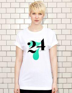 NATRI - 24/7- white t-shirt - women: twenty-four-seven - eight to eight #print #design #typography #type #minimal #modern #shirt #fashion