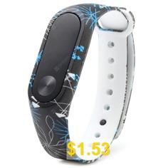 TPU #Smart #Wrist #Watch #Strap #for #Xiaomi #Miband #2 #- #BLACK