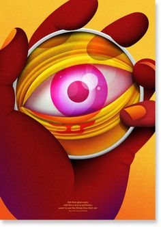 Dot by Cassiano Prado and La Boca #eye #illustration #pill #poster #hand