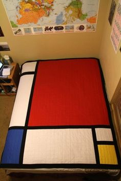CMYBacon #mondrian #quilt #art