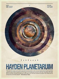Hayden Planetarium: This is a poster for the Hayden Planetarium. It\\\'s not a commissioned piece, just something I did in some spare time,