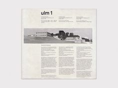Display | Journal of the Hochschule fur Gestaltung ulm 1 | Collection #magazine #ulm #1950s