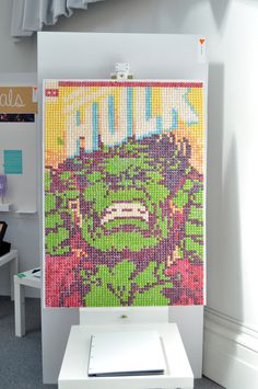 Hulk made from Skittles #comic #hulk #collage #skittles