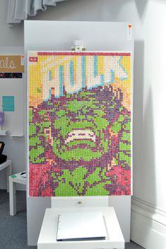 Hulk made from Skittles #comic #hulk #collage #skittles