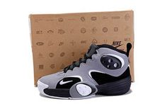 nike flight one nrg cool grey and black basketball sneakers