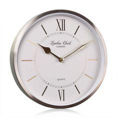 London Clock Company 'Sophia' Wall Clock, Champagne Gold, 25cm x 4.6cm