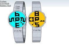 Cyclone Rotating LCD Watch