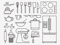 Kitchen Tools #illustration