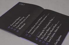 Raewyn Brandon, Matias Corea- 99U Quarterly Magazine Issue 1 - 004 #serif #black #violet #type #magazine