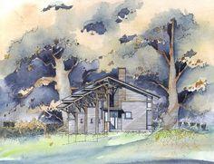Representation | Paul Lukez Architecture #watercolor #architecture #representation #drawing