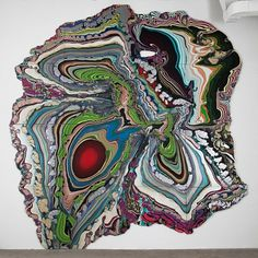 It's Nice That : Beautiful, flow-triumphant Pour Paintings by Holton Rower on show in New York #texture