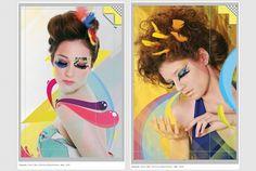 P+ #make #girls #illustration #colors #up