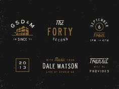 Founders' Day Elements #vintage #logos