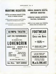 Sans Serif № 6 type specimen