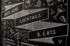 Chalkboard by Sophia Mary Mac  #typography #type #lettering #handtype #handlettering #chalk #chalkboard #blackboard #layout #design #illustr