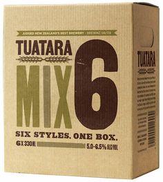 Tuatara Mix Pack #beer #bottle #label #packaging