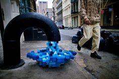 Pixel Pour 2.0, NYC - unurth | street art #pour #design #pixel #photography #art #york #nyc #2 #new