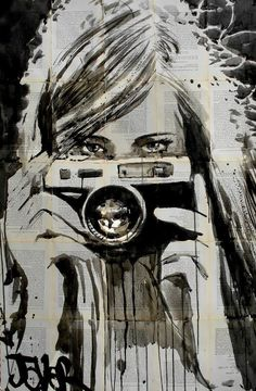 loui jover illustration #camera #illustration #girl