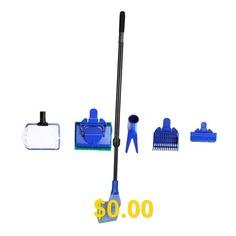 Long #Handle #Fish #Tank #Brush #Glass #Wipe #Aquarium #Cleaning #Tool #Fish #Fishing #Net #Brush #- #BLACK #BLUE