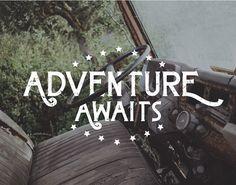 Adventure awaits #inspiration #lettering #adventure #type #typography