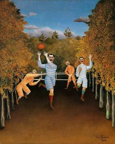 The Football Players, 1908 by Henri Rousseau #french #painting