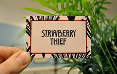 Strawberry Thief | STATIONERY OVERDOSE #branding #cards #business