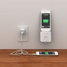 Rolio iPhone Charger With Wall Dock #gadget