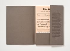 Creamier #typography #type #layout #book #cover #brown #folder #peach