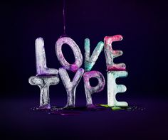 Love Type ice letters & paint