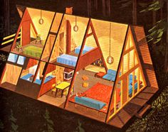a frame house from the 1960s #architecture #house #frame
