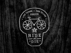 Dribbble - Ride Or Die by Curtis Jinkins #line #ride #bike #logo #skull